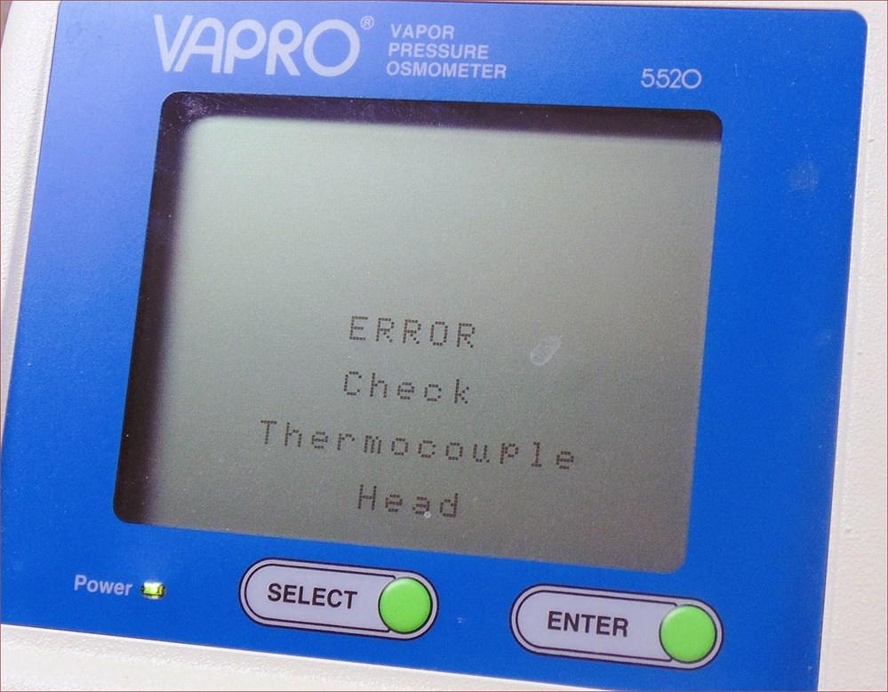 UW SWAP Online Auction - Vapro Vapor Pressure Osmometer (PARTS