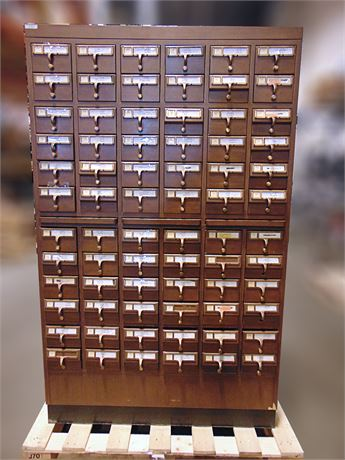Uw Swap Online Auction Library Card Catalog Cabinet 3