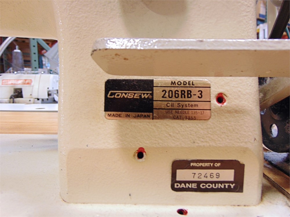 Uw Swap Online Auction Consew 206rb 3 Industrial Sewing